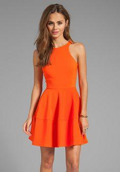CAMILLA AND MARC Waterline Dress in Orange - New