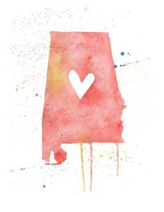 Alabama love (red)