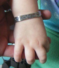 Hand Stamped Jewelry Baby / Infant / Newborn by BeeBaublesJewelry, $17.00