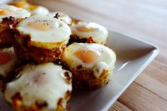Eggs in Hash Brown Cups.