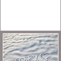 Sorry in the sand card. This printable is the perfect card for an apology. Simply download and print. And please repin and share.