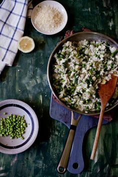 Peas and Asparagus Risotto   Playful Cooking