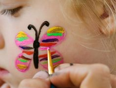 simple face painting designs | Gallery Of Face Painting Examples