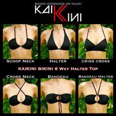 CLEARANCE Colorburst 6 Way Halter/ Bandeau Bikini Top by KaiKini