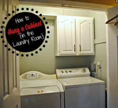 Two It Yourself: Turn a Thrifted Cabinet into Laundry Room Storage ...