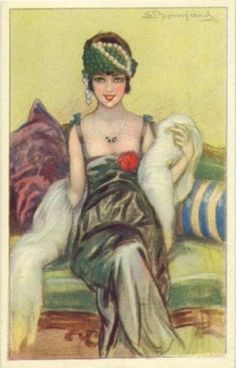 maudelynn:  Lovely early 1920s postcard by Sergio Bompard