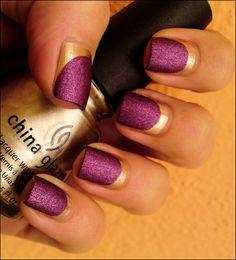 .LSU gold nails, nail polish, nailart, french manicures, china glaze, sparkle nails, nail arts, design art, fingernail designs