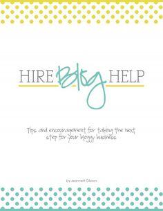 Hire Blog Help ebook