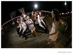 Musical Chairs was a fun game for everyone at Yuhan and Le's wedding. Photo by Kai Photography  http://www.hawaiianweddings.net