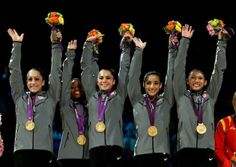 2012 Olympic Women Gymnastics Gold Medal Winners.  Congratulations Ladies!