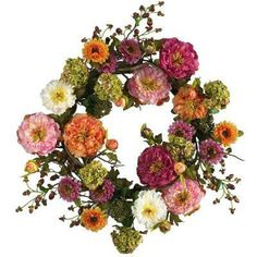 Quick fix for your front door: Try a 24 in. silk peony wreath!