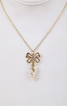 Deb Shops #bow #necklace
