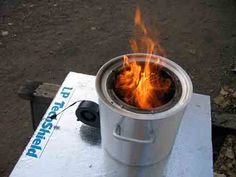 Build A Large Portable Wood Gasifier Stove