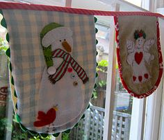 The cutest Christmas Bunting ever!