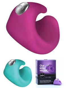Jopen Key Pyxis Finger Vibrator - A lovely vibrator you wear on a finger that is powerful, discreet and quiet... not to mention waterproof and rechargeable -  http://www.holisticwisdom.com/jopen-key-pyxis.htm