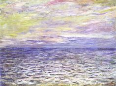 Claude Monet - Sunset on the Sea, off Pourville, 1882