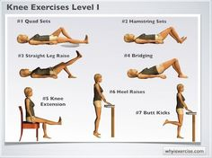 Knee exercises - Therapeutic strengthening for beginners.