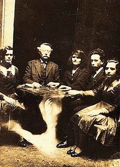 Spiritualists in Cassadaga, Florida. Said to have the largest population of alleged psychics and mediums in America (and possibly the world). You can still visit today.