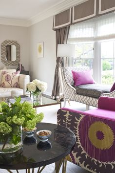 decor, living rooms, chair fabric, colors, tory burch