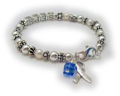 Colon Cancer Blue Ribbon Bracelet