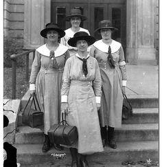 Group photo of four nurses, 1924