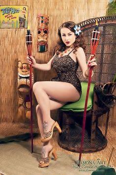 tiki queen, tiki pinup, queens, modern pin, tiki girl, acid doll, jungl girl, tiki hut, halloween parti