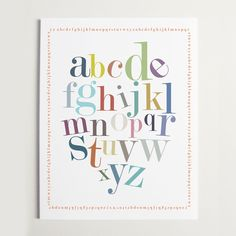"Alphabet Border Print 11x14""  by Ryan Beshara"