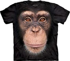 Chimp Face T-Shirt at theBIGzoo.com, a toy store with over 12,000 products.