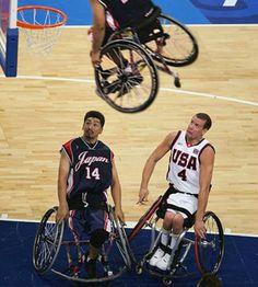 Wheelchair Basketball Dunk!