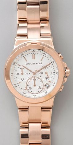 Michael Kors Rose Gold watch. Have I mentioned I've become fond of Gold Watches?