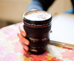 Camera lens mug. Great gift idea for photographer friends...