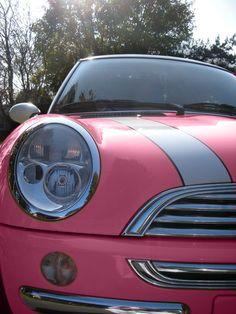 mini coopers, pink cars, colors, pink mini, bubbles, daughters, beauty, dream car, bubble gum