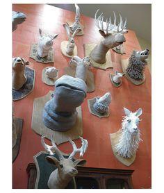 Papier mache animals...