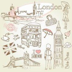 London. Illustration.