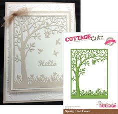 Really wanting this die cut. But not willing to spend $30 on it! Spring Tree Frame Metal DIE BY Cottage Cutz   eBay