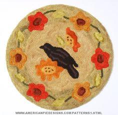 Summertime Rug Hooking Pattern by Melanie Pinney and American Pie Designs