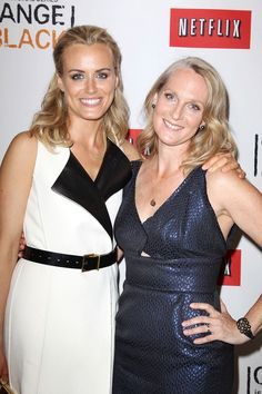 Piper Kerman and Taylor Schilling (Piper) at the Netflix Presents 'Orange is the New Black' premiere in NYC. #OITNB