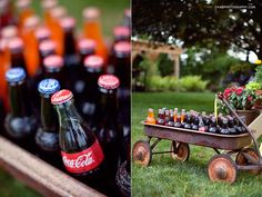 drinks for an outdoor party! I know it isn't red, white and blue but it is purely American!