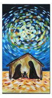Nativity painting -