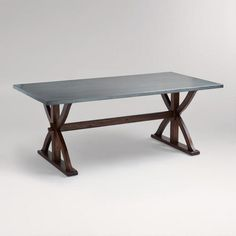 One of my favorite discoveries at WorldMarket.com: Metal Wrapped Braxton Dining Table