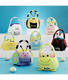 Personalized Easter Bunny Baskets #easter #easterbaskets