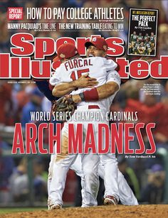 On the Cover: St. Louis Cardinals, Baseball, Cardinals  Photographed by: Al Tielemans / SI