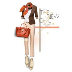 """Business Chic - Neutrals & Blazer"" by casuality on Polyvore"