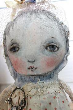 original textile mixed media fiber ooak art doll by fadedwest