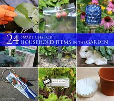 24 Smart Uses For Household Items In The Garden #frugal #solutions #hacks #spon