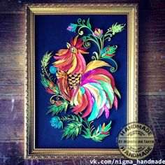 Quilled Rooster - by: vk.com/nigma_handmade