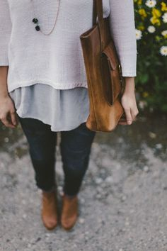 sweater, autumn outfits, ankle boots, cozy outfits, fall autumn, fall outfits, fall styles, big bags, leather bags