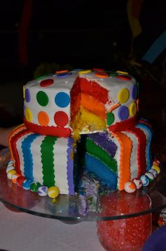 Cake at a Rainbow Party #rainbowparty #cake