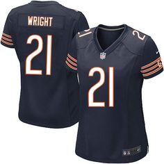 $109.99 Women's Nike Chicago Bears #21 Major Wright Elite Team Color Blue Jersey