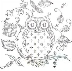 My Owl Barn: Owl Love You: Embroidery Pattern idea, craft, owl embroideri, embroidery patterns, embroideri pattern, stitch, vintage embroidery, owls, owl patterns